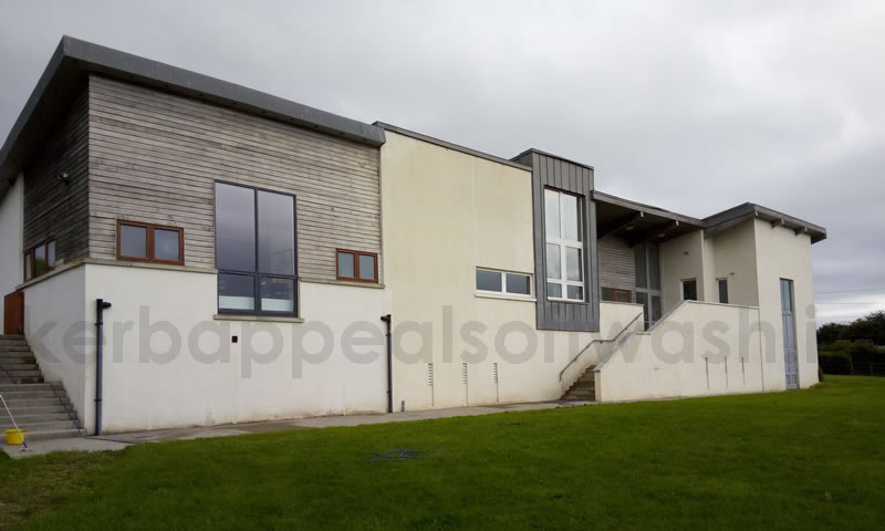 Softwash Render Cleaning Red Algae Removal Wall